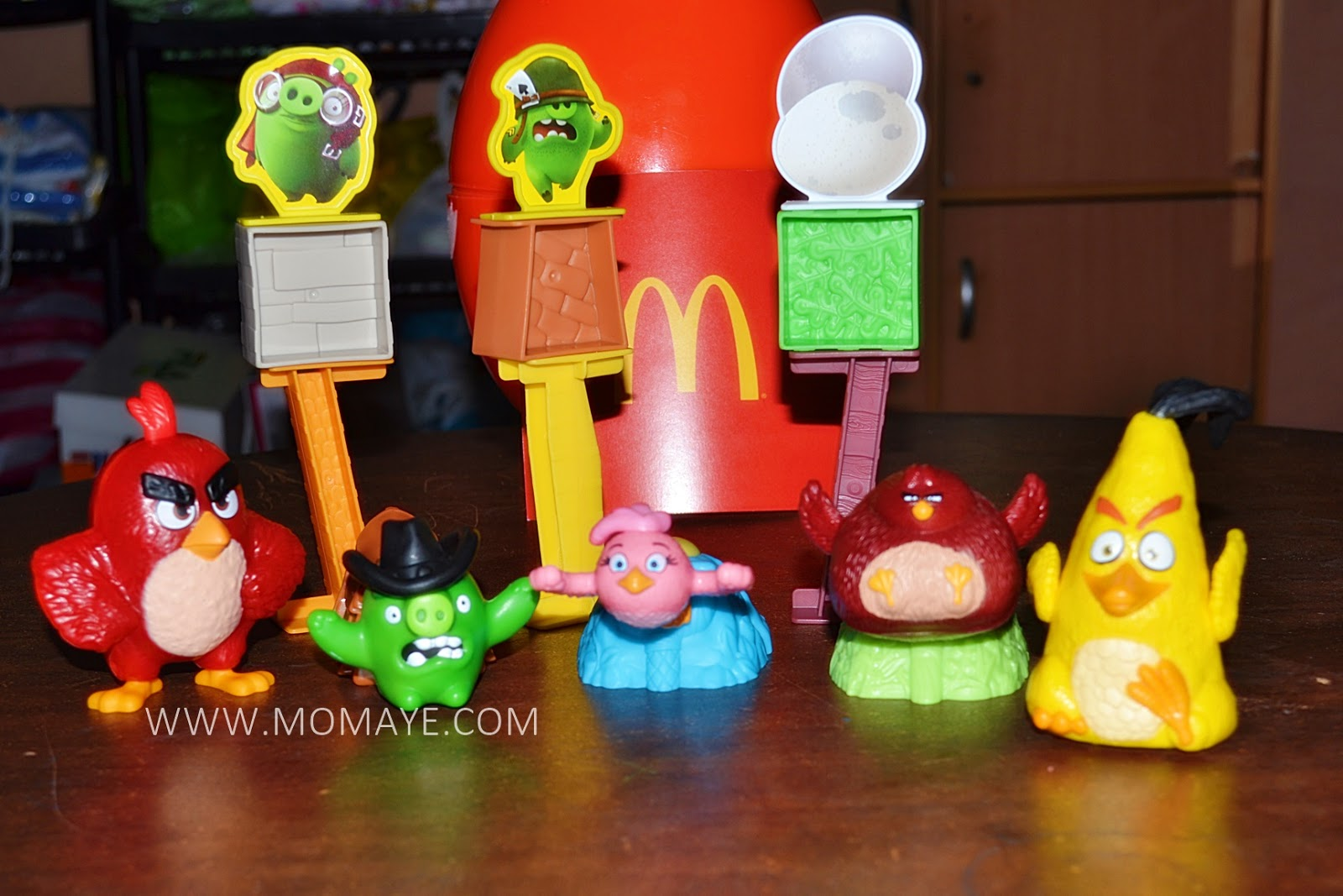 Angry Birds Toys : The mcdohappymeal angry birds toys