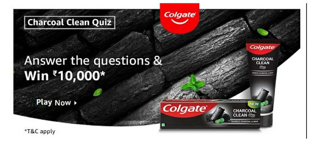 Colgate Charcoal Clean Quiz answer the question and win