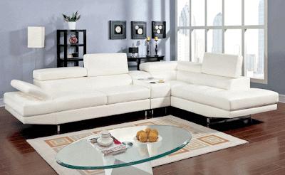 Kemy Adjustable Headrest Sectional Sofa Furniture