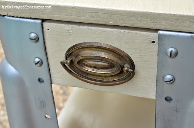 DIY repurposed hardware vintage trash-to-treasure