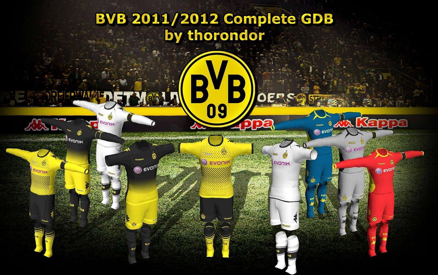 Borussia Dortmund Kits 2011-2012 GDB para PES 2011 by thorondor
