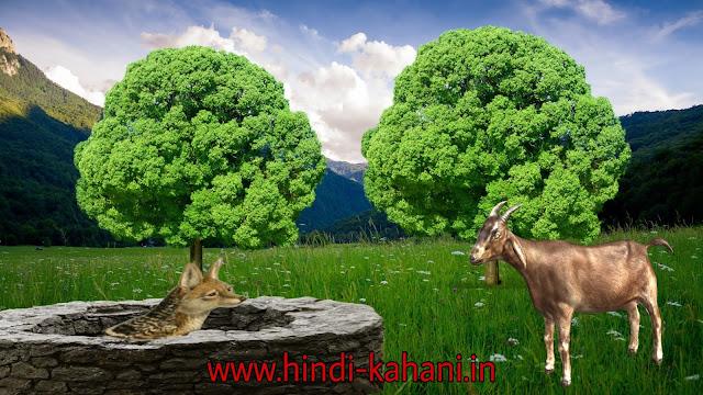 gidad aur bakra ki kahani , bake ki kahani, gidad ki kahani गीदड़ और बकरा हिंदी कहानी | Jackal and goat hindi Story