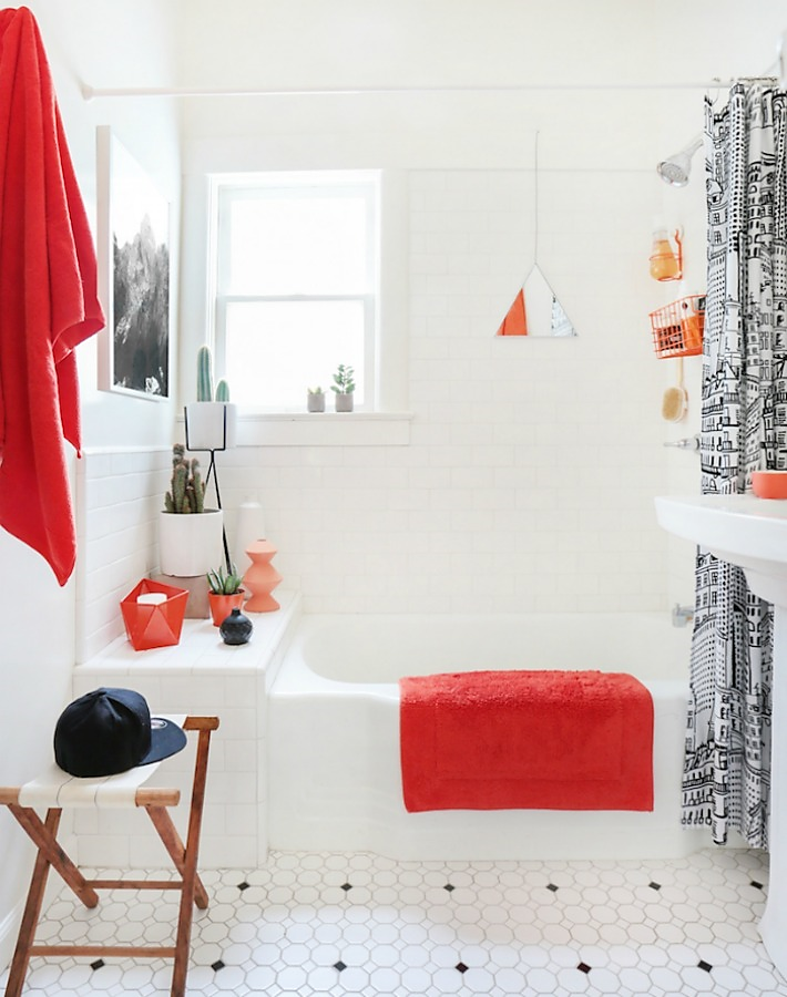 Un baño cuatro decoraciones ¿Cuál te gusta más?