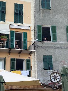 A man staring out a window - Porto Venere