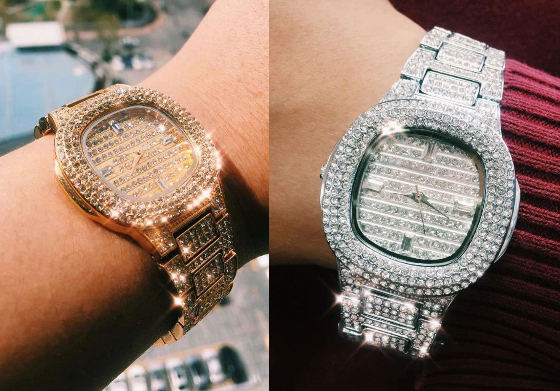 bling bling hip hop iced watch