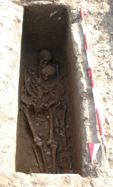 Messapian tomb with man and child unearthed at archaeological site of Roca
