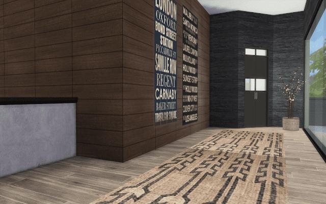 couloir chalet sims 4