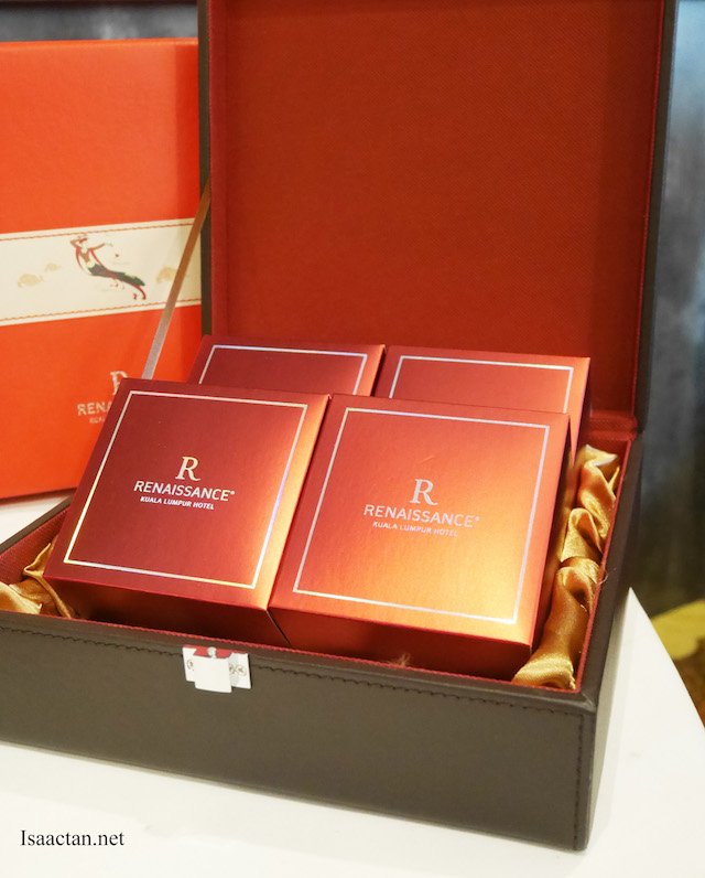 Red, luxurious packaging