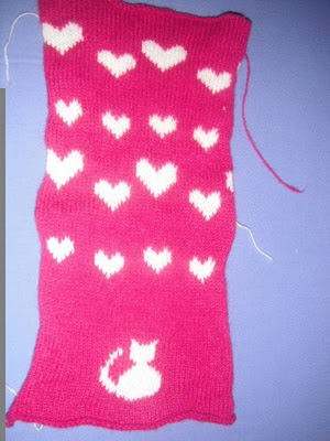 full knitted & felted swatch