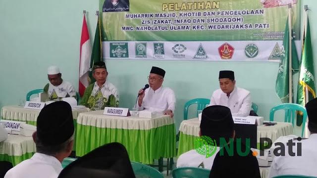Pelatihan maharrik masjid, khotib dan Zis Wedarijaksa