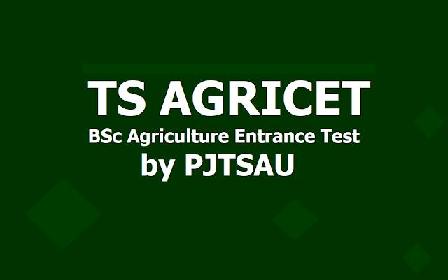 TS AGRICET 2019, BSc Agriculture Entrance Test 2019 (PJTSAU)