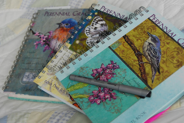 My Date Books turned Garden Journals from the past three years.