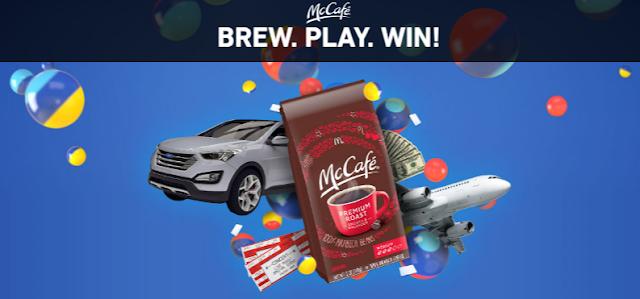 You can Brew, Play and WIN a brand new SUV or other great instant win prizes with the McCafe instant win game!