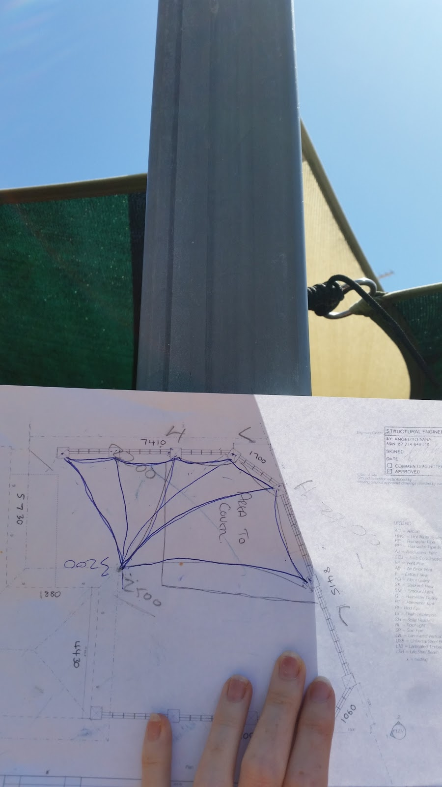 Jarrah Jungle: Courtyard Garden - Shade Sail Design