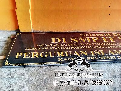 Prasasti Papan Nama Granit, Papan Nama Granit, Jual Prasasti Granit di Jakarta