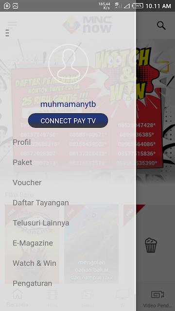cara connect pay tv ke mnc now