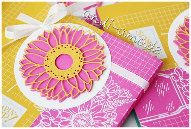 Stampin Up Stanzformen Sonnenblumen