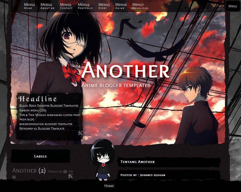 Blogger Template Place Themes Anime Keren 2017