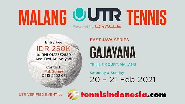 Baru Dibuka Dua Hari, Kuota Pendaftar Turnamen Tenis UTR Malang Hampir Penuh