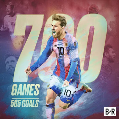 #Leo #Messi: 700th #career #game, 565th #career #goal, 30th #career #trophy 🐐...