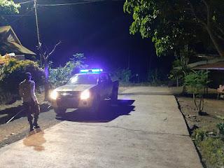 Minimalisir Kejahatan Malam Hari Kanit Sabhara Polsek Curio Tingkatkan Patroli Blue Light
