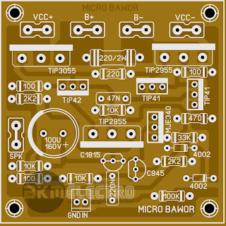 Layout PCB MCRO BAWOR STANDARD Driver amplifier