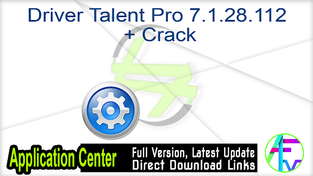 Driver Talent Pro 7.1.28.112  + Crack