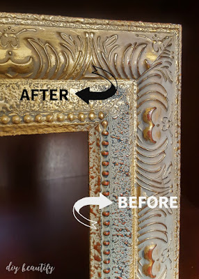 Transform an old frame with rub-n-buff | diy beautify