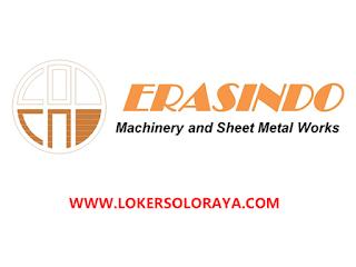 Lowongan Kerja Solo Tenaga Las Serabutan di Erasindo Machinery and Sheet Metal Works