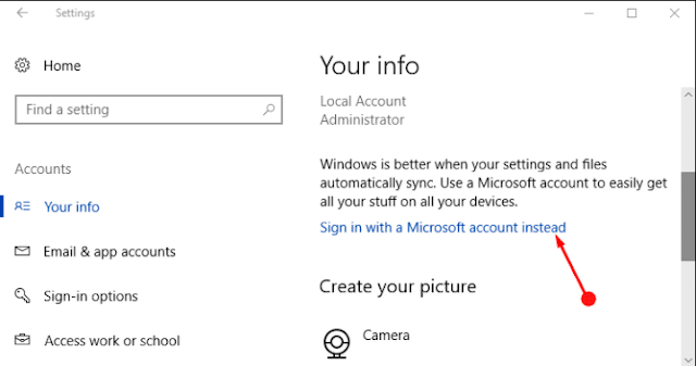 How to Change Administrator Email Id in Windows 10