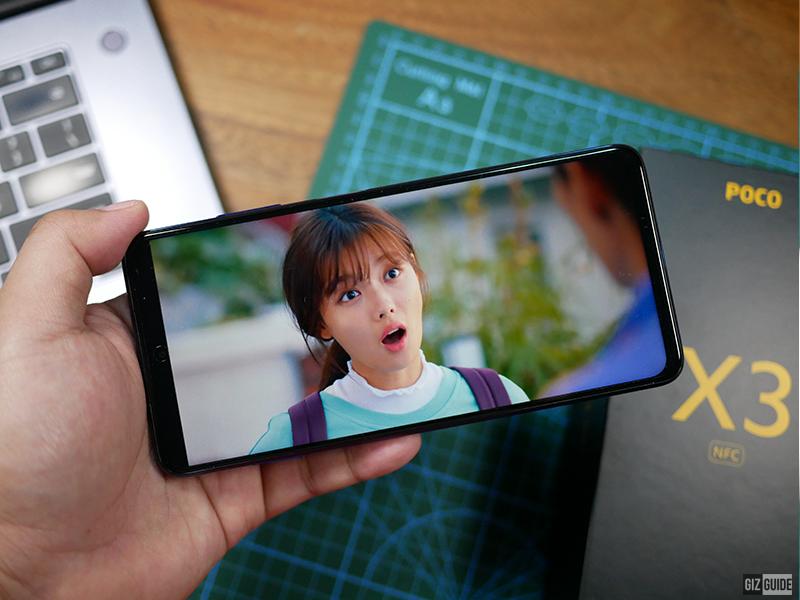 POCO X3 NFC screen