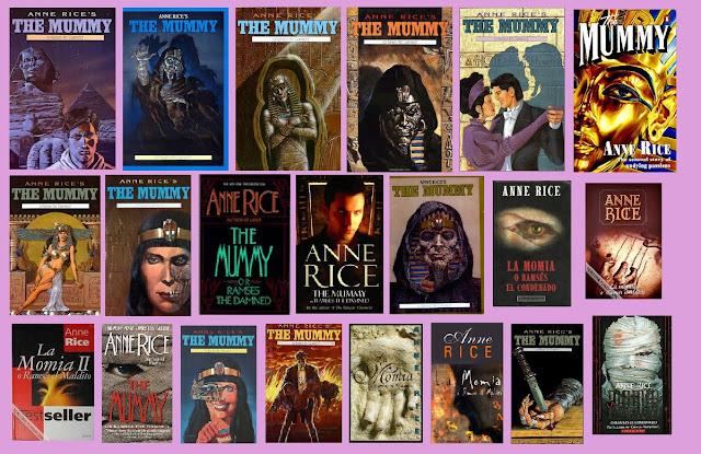 portadas de la novela de fantasía La momia, de Anne Rice