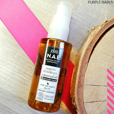 Blog PurpleRain - Huile de beauté Universelle - NAE