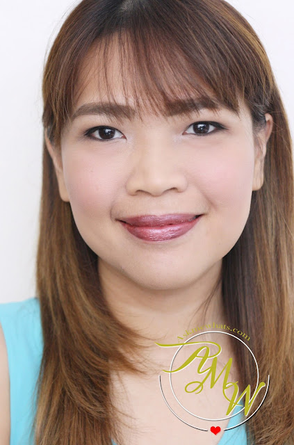 a photo of askmewhats wearing Sleek MakeUP Metallic Matte Lip Creams Review in Rusted Rose