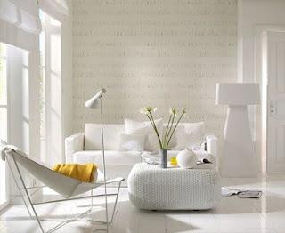 Moderna sala pequeña blanca