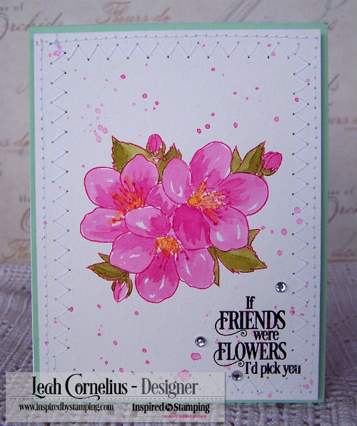Inspired By Stamping, Leah Cornelius, Cherry Blossoms, Distress ink, watercolor