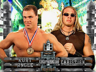 WWE / WWF - King of the Ring 2001 - Kurt Angle faced Christian in the first semi-final