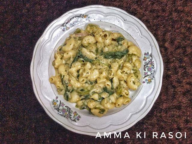 One pot - creamy spinach pasta (without cheese)