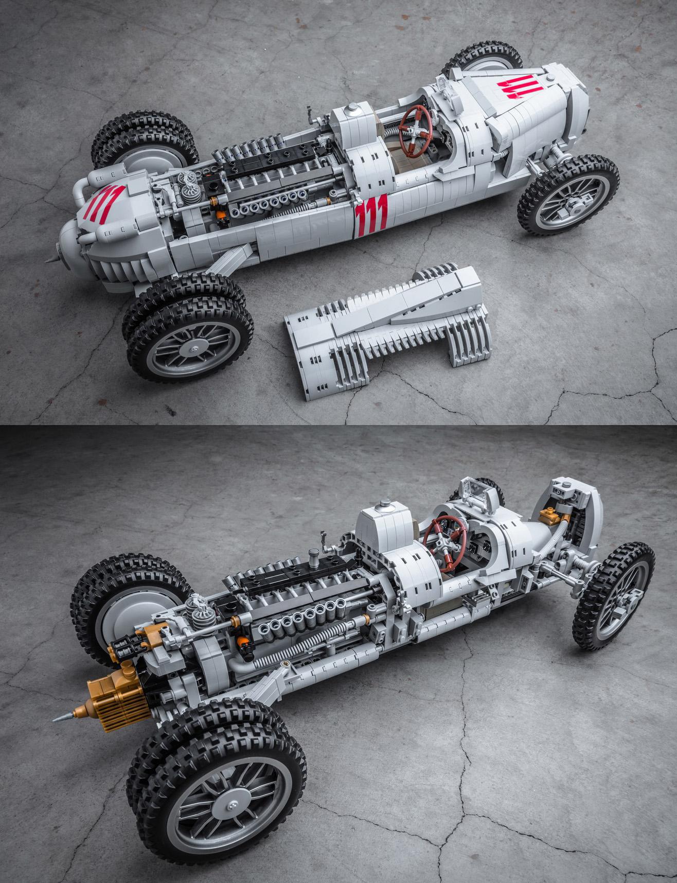 アウトウニオン・タイプCがレゴアイデア製品化レビュー進出!2020年第3回1万サポート獲得デザイン紹介