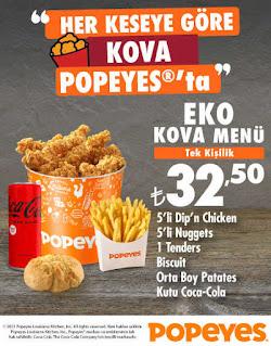 popeyes menu fiyat listesi eko kova menü tıkla gelsin online sipariş