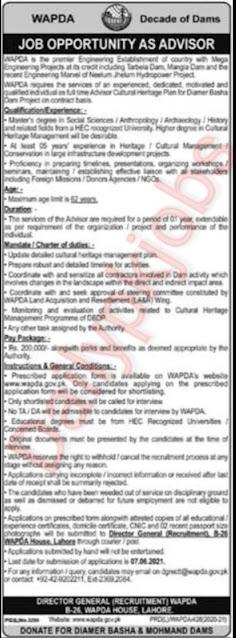 Pak Wapda Jobs 2021