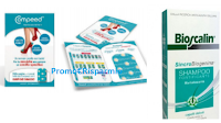 Logo Ritira gratis campioni omaggio Bioscalin e Compeed carotti per vesciche
