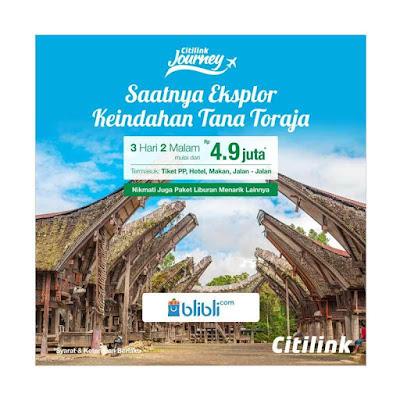 Tiket Penerbangan Citilink di Blibli