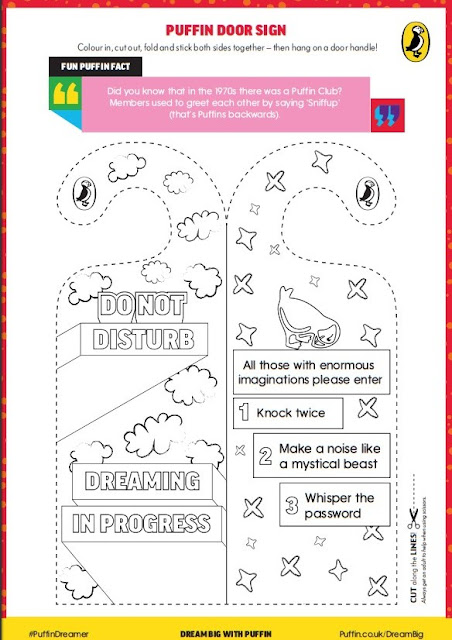 Puffin Books Childrens literacy Door sign