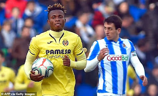 Liverpool 'weigh up move for Villarreal winger Chukwueze'