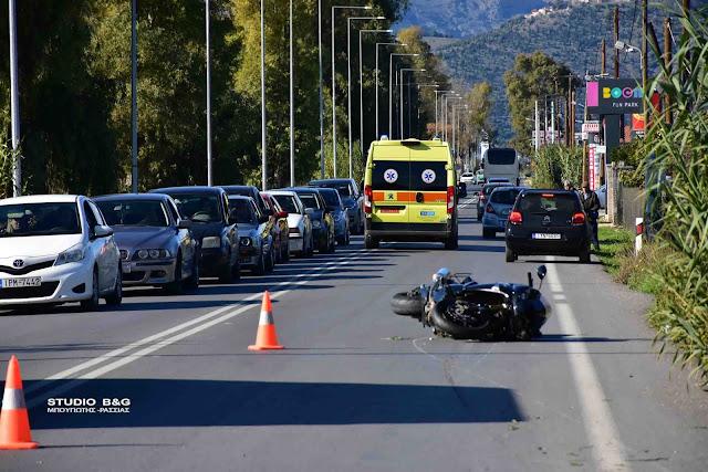Εκτροπή μηχανής στην Αργολίδα - Τραυματίας ο οδηγό της