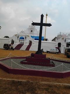 The famous Cross in front of Ramapuram Church