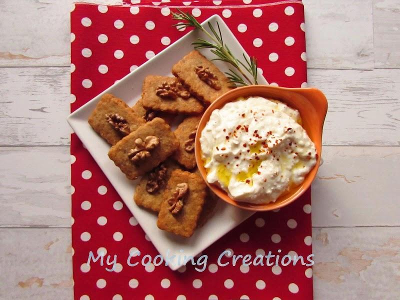 Соленки с горгонзола и орехи * Biscotti con gorgonzola e noci