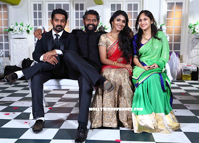 Asif Ali and Zama Mazreen in wedding reception