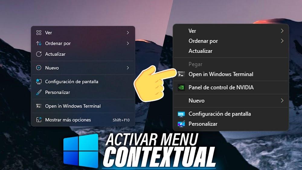 Activar Menu Contextual de Windows 10 en Windows 11